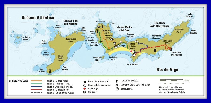 Resultado de imagen de islas cies mapa